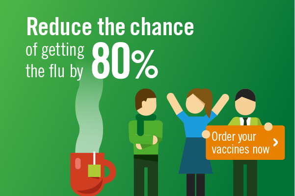 Reduce the chance of getting the flu by 80%